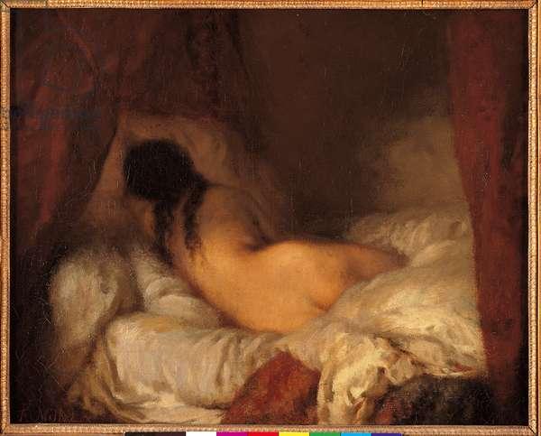 Naked woman lying, c.1844-45