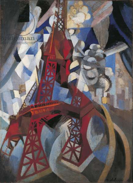 Red Eiffel Tower (La Tour Rouge), 1911-1912 (oil on canvas)