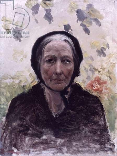 Portrait of Old Woman (Ritratto di vecchia), by Giuseppe De Nittis, 19th Century