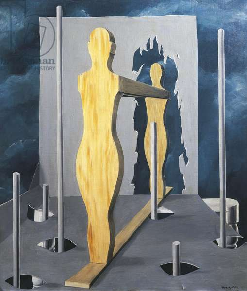 Seer's Chamber (La chambre du devin), by Renè Magritte, 1926, 20th Century, oil on canvas, 74 x 65 cm
