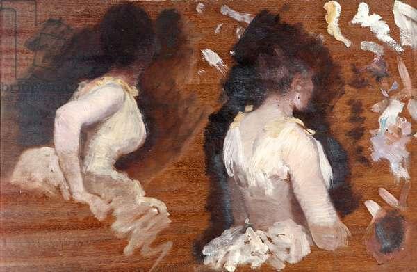 Study for La Danse de Monde, by Giuseppe De Nittis, 19th Century