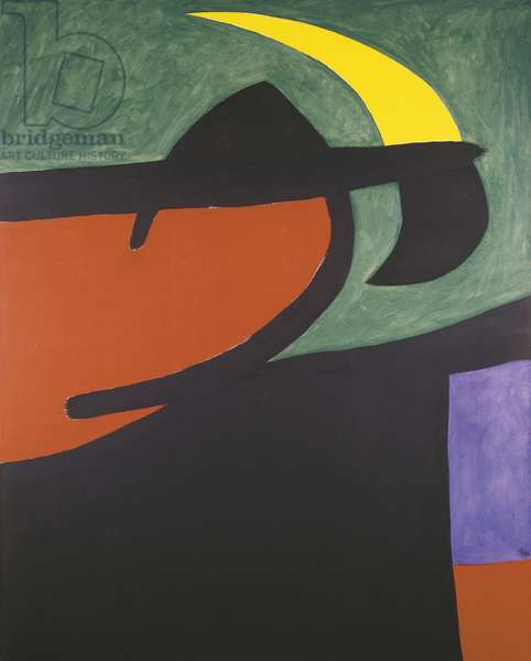 Catalan Peasant in the Moonlight, Joan Miro, 1968 (acrylic on canvas)