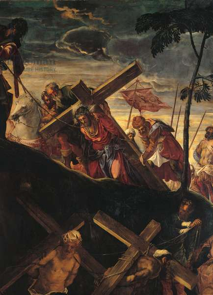 The Ascent to Calvary (La salita al calvario), by Jacopo Robusti known as Tintoretto, 1566 - 1567, 16th Century, oil on canvas, 515 x 390 cm