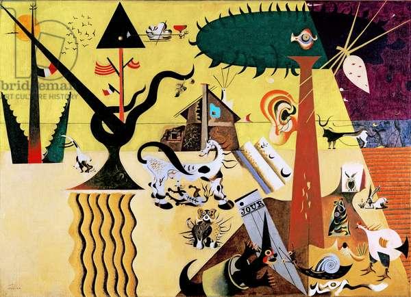 The Tilled Field (La terre labourèe) 1923-24 (oil on canvas)