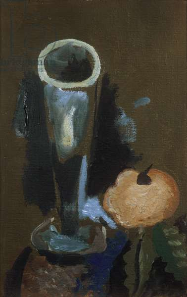 The Glass and The Apple, by Georges Braque, 1962 - 1963, 20th Century, 24 x 16 cm