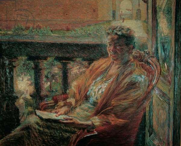 Portrait of Mrs Meta Quarck, 1910 (oil on canvas)
