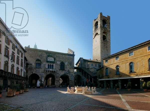 Piazza Vecchia in Bergamo (formerly Piazza Garibaldi),