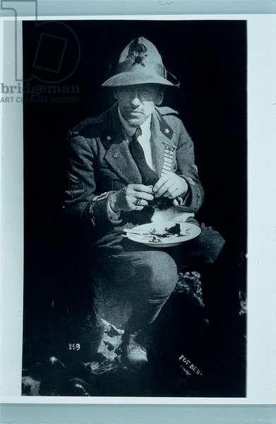 Gabriele D'Annunzio during the Occupation of Rejika, 1920 (photograph b/w)