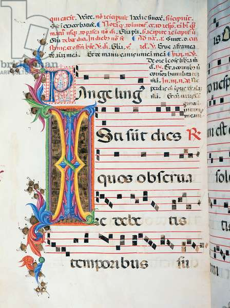 Diurnal and Nocturne Antiphonary from the First Saturday after Epiphany to Holy Saturday, (illuminated manuscript)
