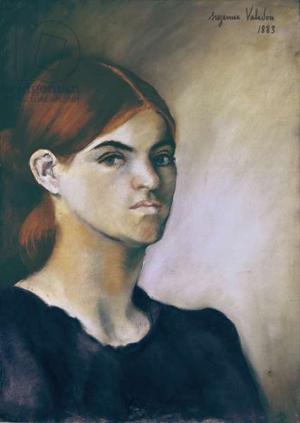 Self-portrait (Autoportrait), by Suzanne Valadon, 1883, 19th Century, pencil, charcoal and pastel on paper, 43,5 x 30,5 cm