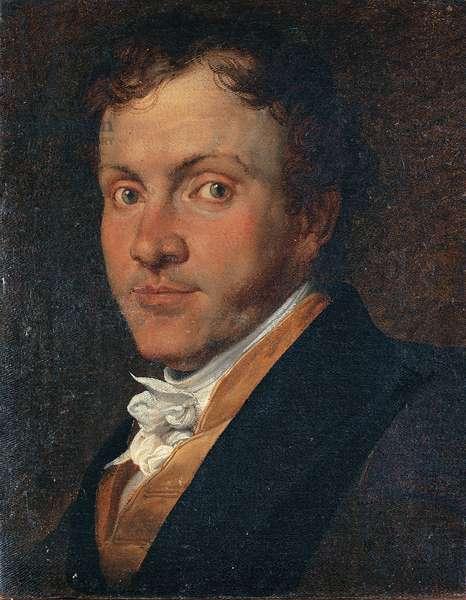 Portrait of Giuseppe Roberti (Ritratto di Giuseppe Roberti), by Francesco Hayez, 1819, 19th Century, canvas