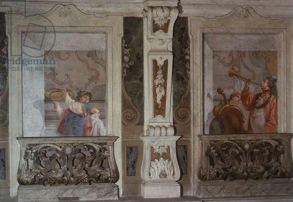 Gallant Scene (Scena galante), by Francesco Zugno, c. 1770, 18th Century, fresco