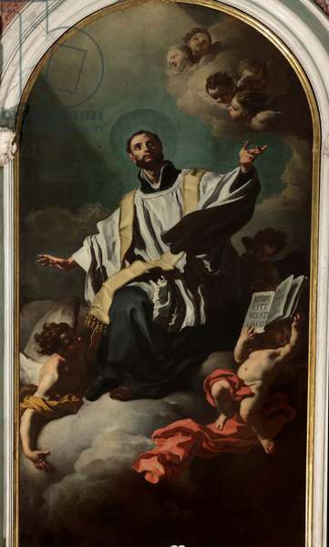 Saint Cajetan in glory, by Francesco Solimena, 1725, 18th Century, oil on canvas