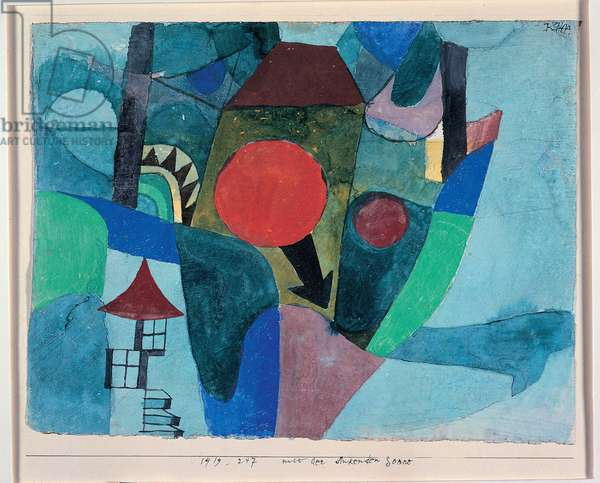 Landscape at the tomb of the moon. Watercolor by Paul Klee (1879-1940) 1919