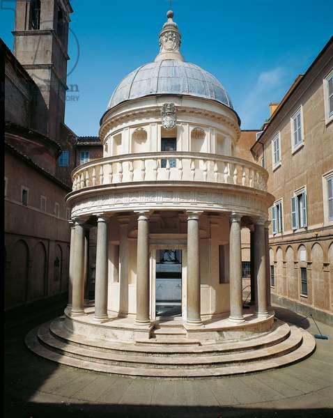 Tempietto of San Pietro in Montorio in Rome, by Donato di Pascuccio di Antonio also known as Bramante, 1502 - 1510, 15th Century