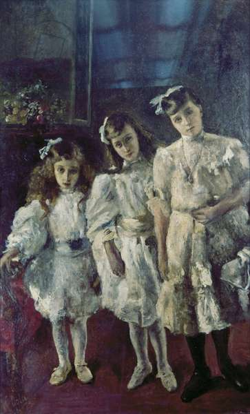 The Little Sisters, 1912 (oil on canvas)