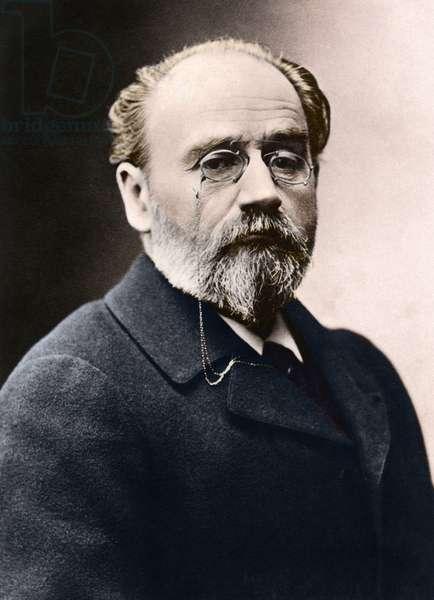 Portrait of Emile Zola - French writer and novelist Emile Zola (1840 -1902)