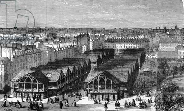 View of the ancient temple march (engraving)