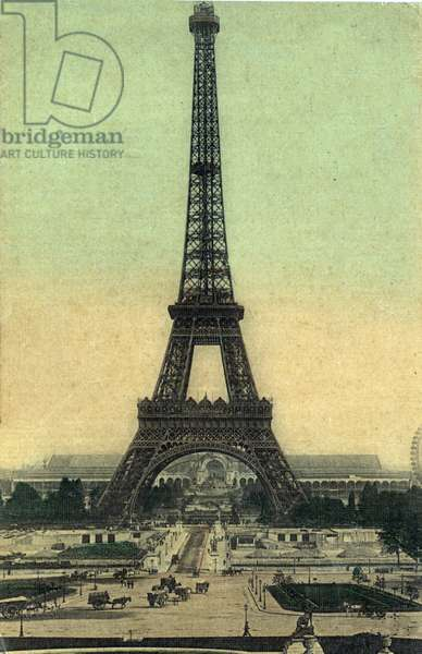 View of the Eiffel Tower in Paris 1905 (Eiffel Tower) Postcard Private collection