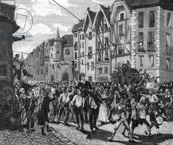French Revolution, Triumph of Marat (engraving)