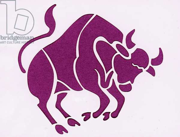 Sign of the zodiac: the bull (Astrological sign: taurus) Private collection