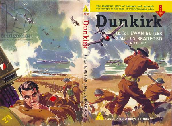 Book Cover for 'Dunkirk' (colour litho)