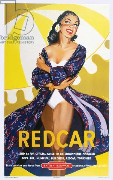 'Redcar' - British Railways Poster (colour litho)