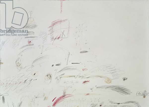 Untitled, 1961 (pencil, crayon and oil on paper)