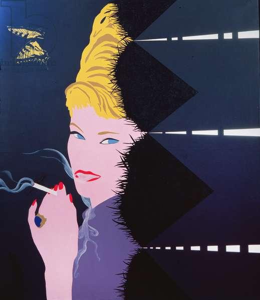 Woman Smoking, 1963 (acrylic on canvas)
