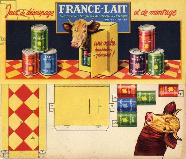 Decoupage France Lait