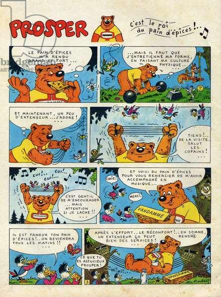 Comic Cartoon Prospering the Bear King of Gingerbread