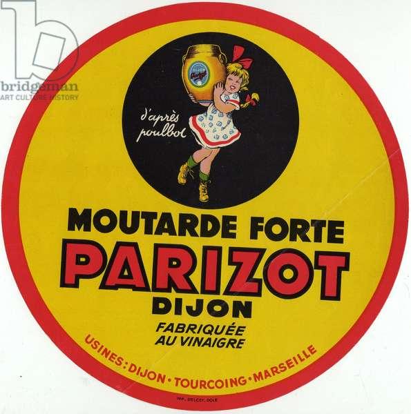Parizot Dijon mustard label designs Poulbot