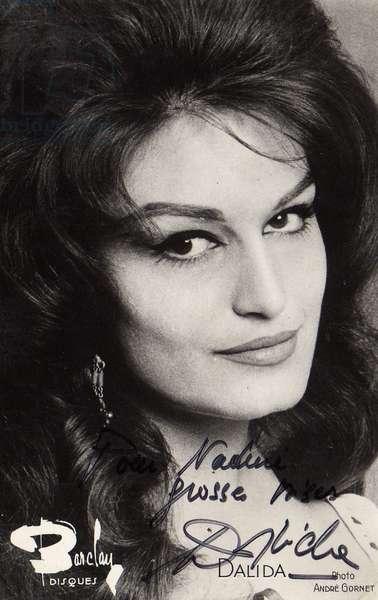 Photo dedicacee Dalida