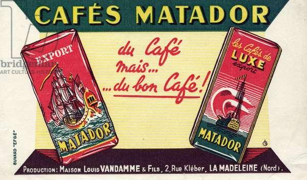 Buvard cafes Matador