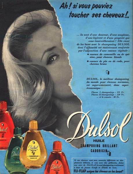 Press advertising shampoo Dulsol