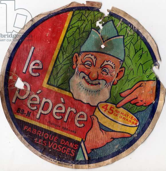 Cheese label Le Pepere