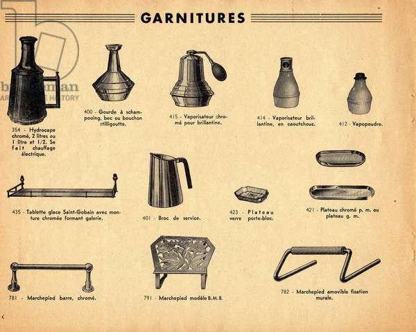 Catalogue extract for hairdresser accessories
