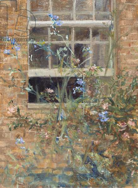 Open Sash and Roses, 2012 (oil on panel)
