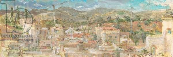 Cretan Rooftops, 2014 (oil on panel)