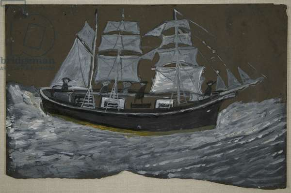 Sailing Ship, c.1930-39 (oil on board)
