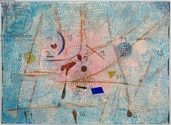 17 Spices - by Paul Klee (1879-1940), Oil on Silk, v.1931.
