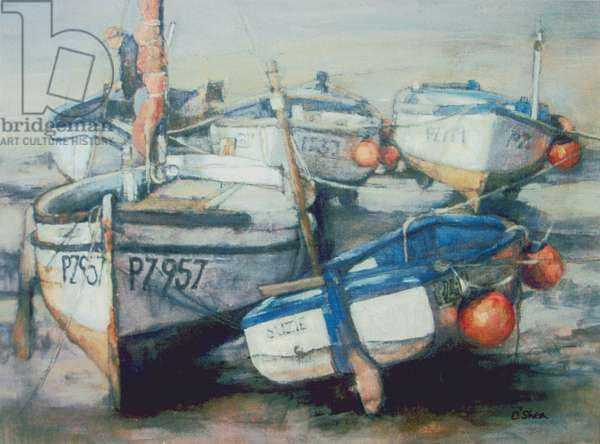 Low Tide, Newlyn (oil on canvas)