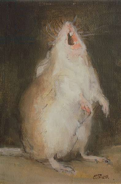 Singing Mouse (oil on board)