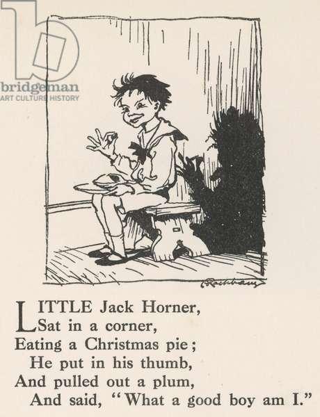 Little Jack Horner, 1912, illustration