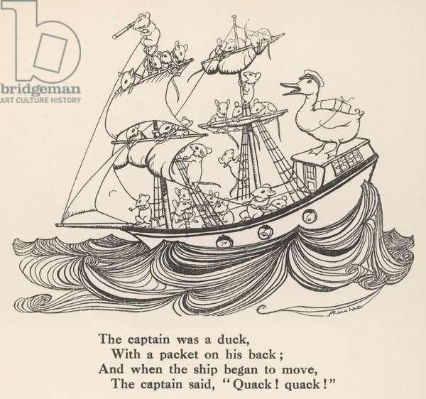 I Saw a Ship A-Sailing, 1912, illustration