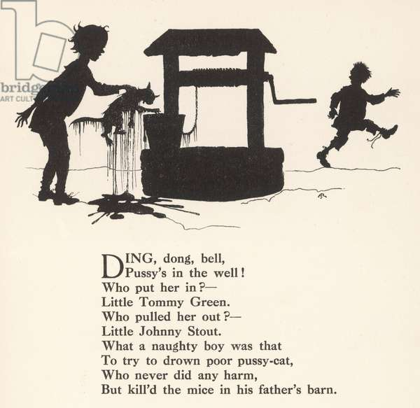 Ding Dong Bell Rhyme, 1912, illustration