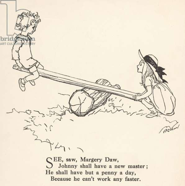 See Saw Margery Daw, 1912, illustration