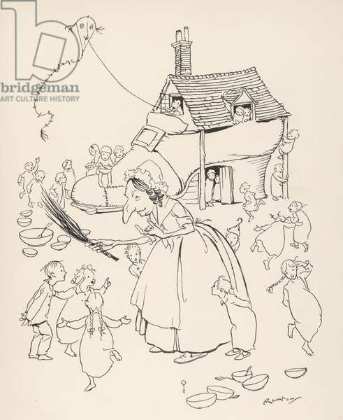 Old Woman lived in Shoe, 1912, illustration
