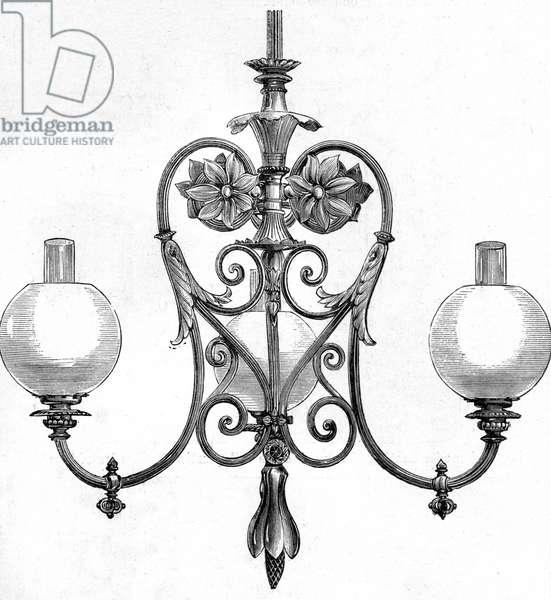 Elster Gas lit chandelier