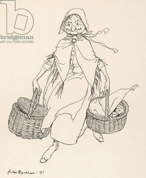 Hot cross buns!, 1913, illustration